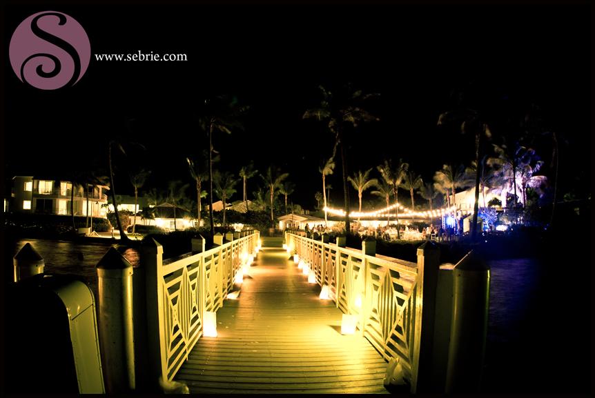 South Seas Island Resort Night Reception