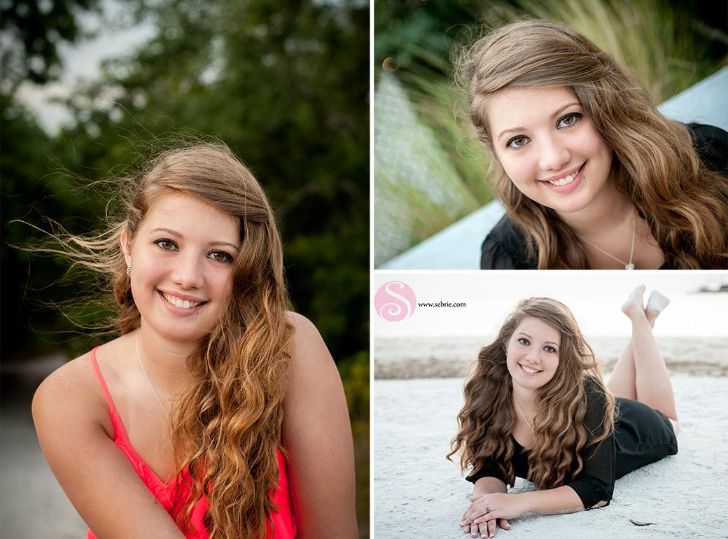 senior beach portrait