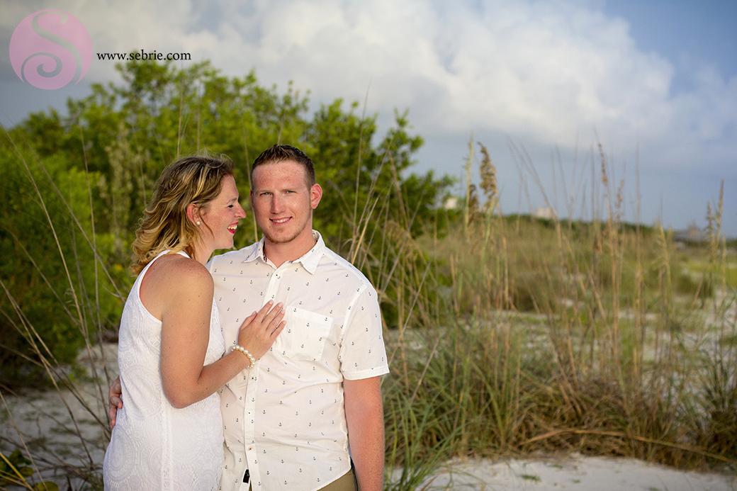engagement smile sand dunes